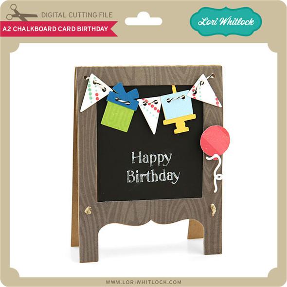 A2 Chalkboard Card Birthday