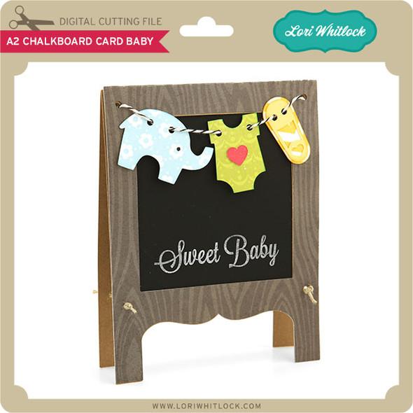 A2 Chalkboard Card Baby