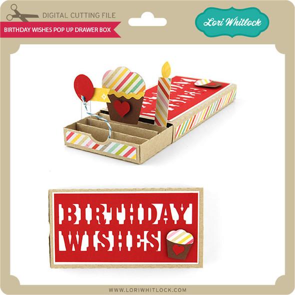 Birthday Wishes Pop Up Drawer Box