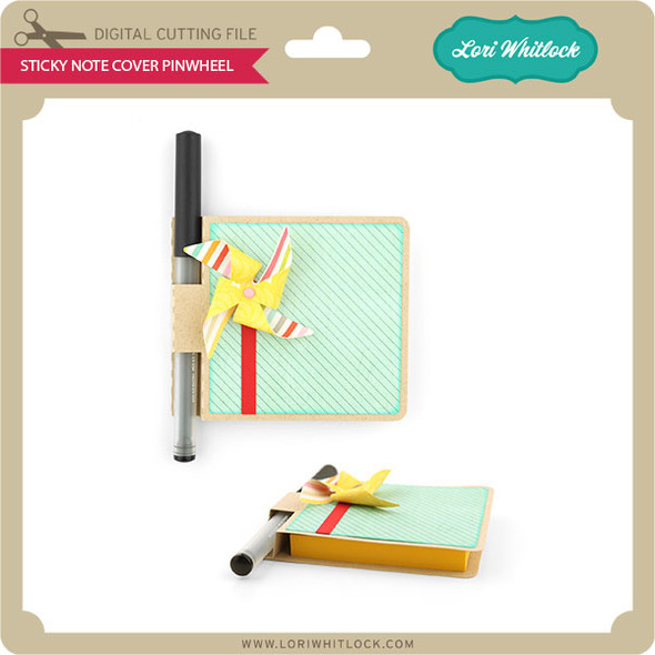 Sticky Note Cover Pinwheel
