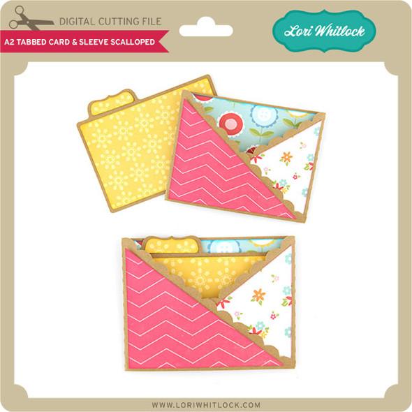 A2 Tabbed Card & Sleeve Scalloped
