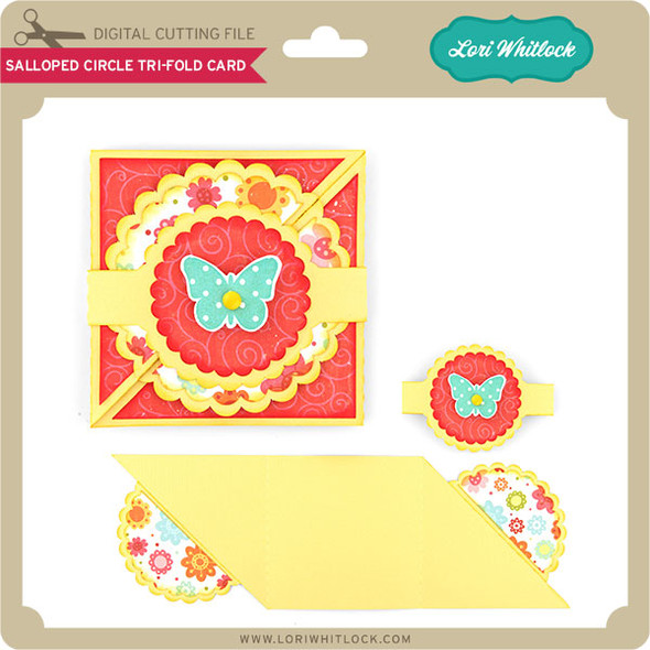 Scalloped Circle Tri-Fold Card