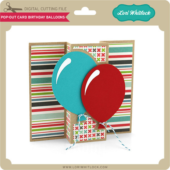 Pop Out Card Birthday Balloons