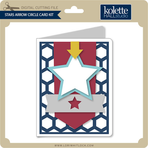 Stars Arrow Circle Card Kit