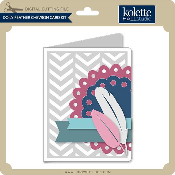 Doily Feather Chevron Card Kit