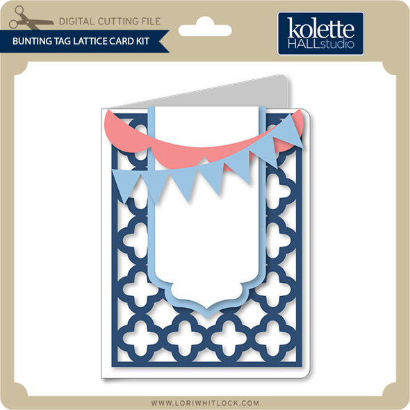 Bunting Tag Lattice Card Kit