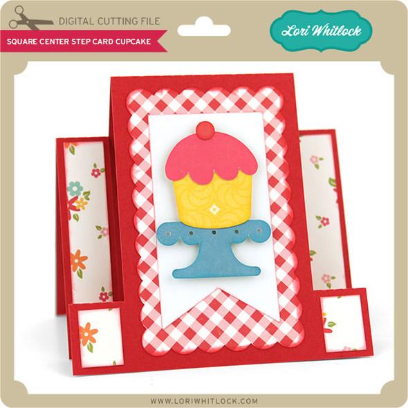 Square Center Step Card Cupcake