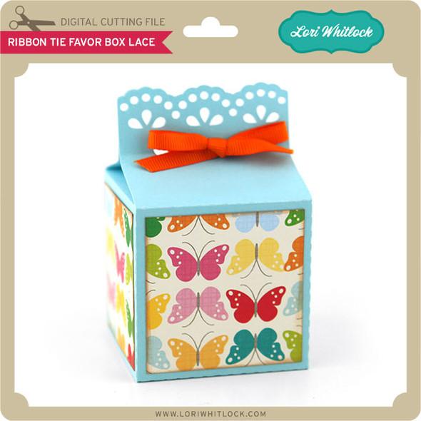 Ribbon Tie Favor Box Lace