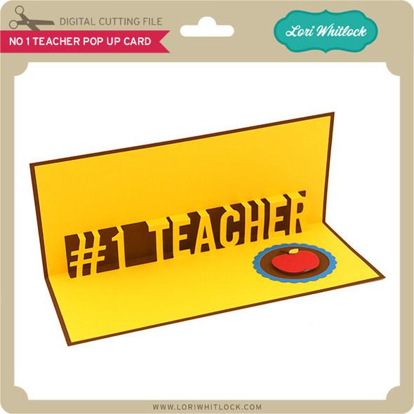 No 1 Teacher Pop Up Card