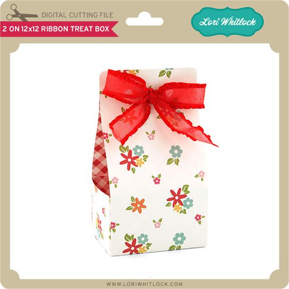 2 on 12x12 Ribbon Treat Box