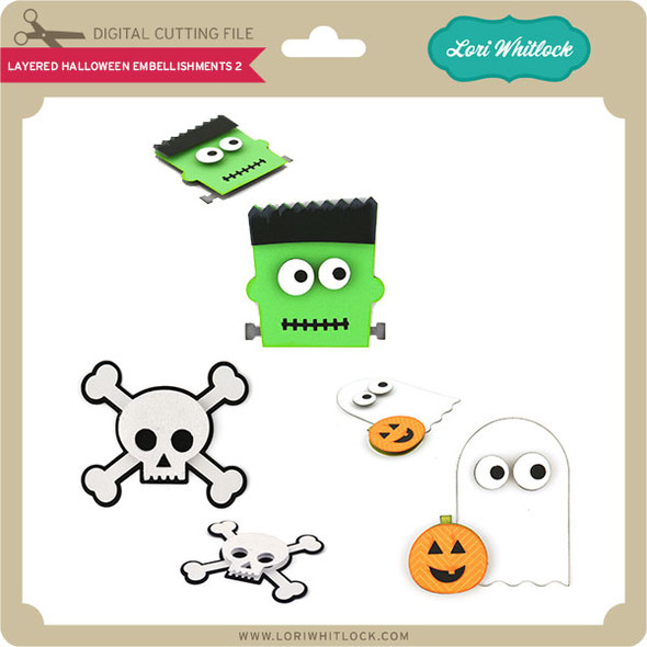 Layered Halloween Embellishments 2