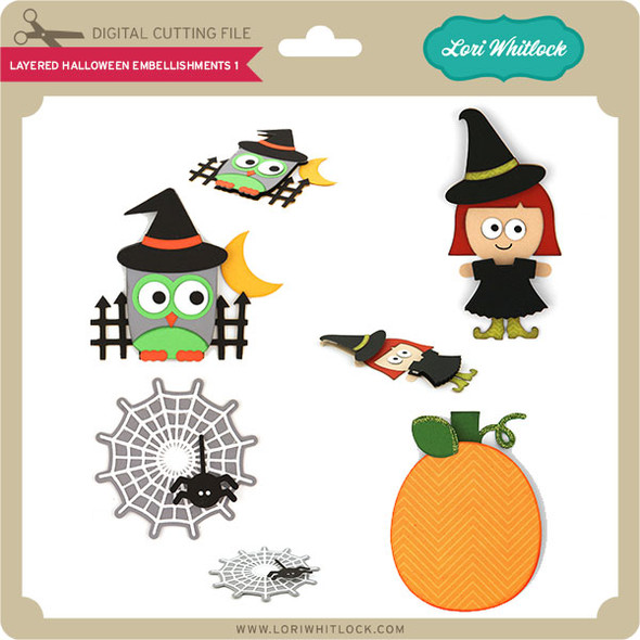 Layered Halloween Embellishments 1