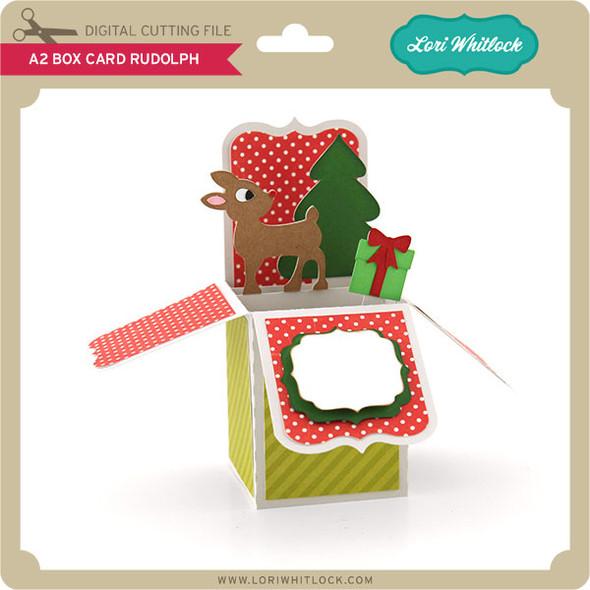 A2 Box Card Rudolph