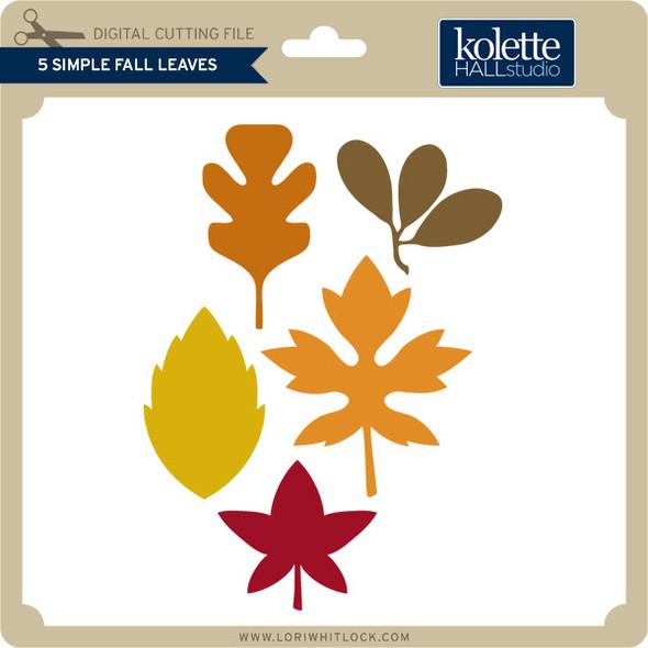 5 Simple Fall Leaves