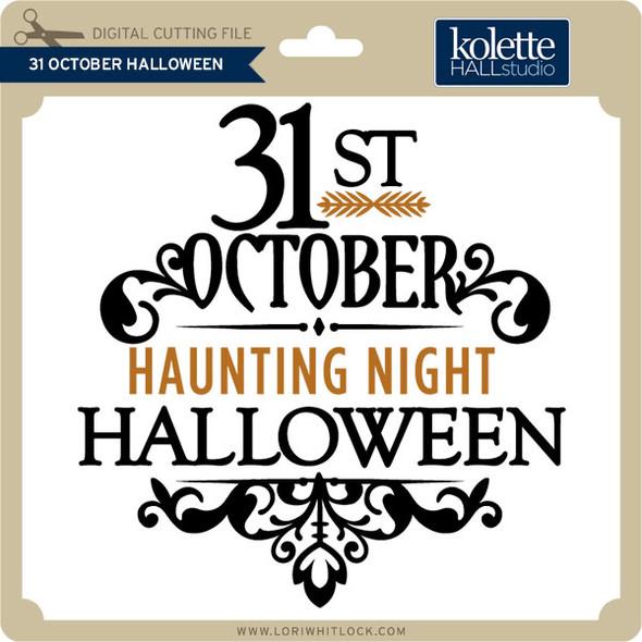 31 October Halloween