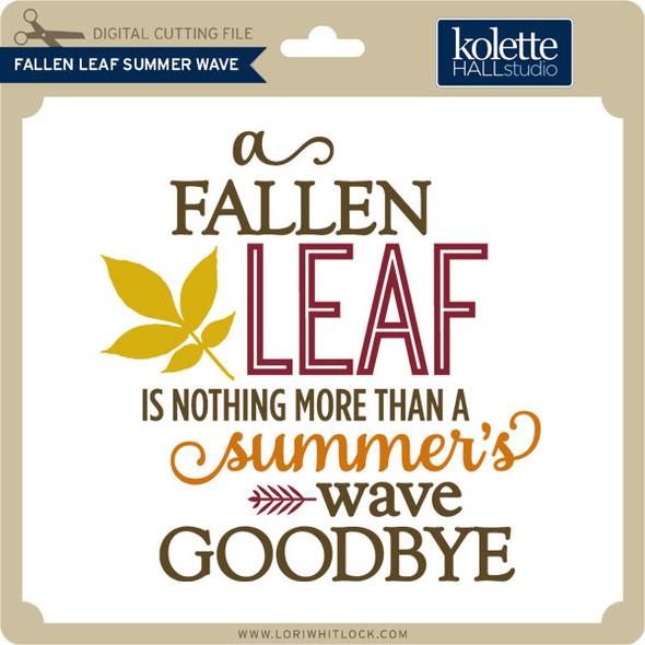 Fallen Leaf Summer Wave