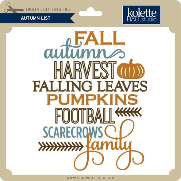 Autumn List