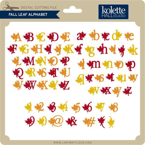 Fall Leaf Alphabet