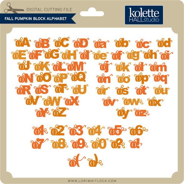 Fall Pumpkin Block Alphabet