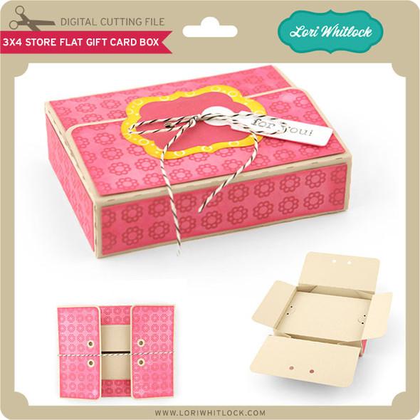 3x4 Store Flat Gift Card Box