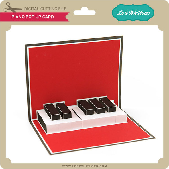 Piano Pop Up Card