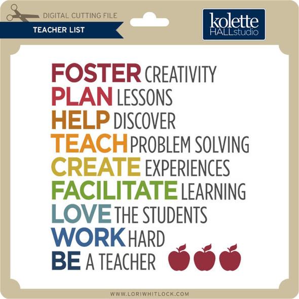 Teach List