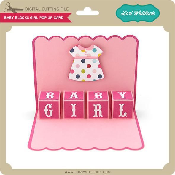 Baby Blocks Girl Pop Up Card