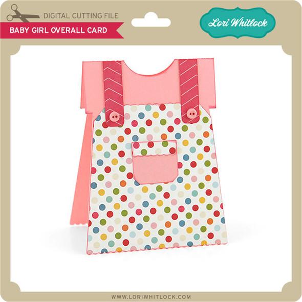 Baby Girl Overall Card