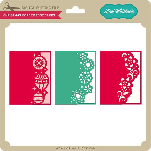 Christmas Border Edge Cards
