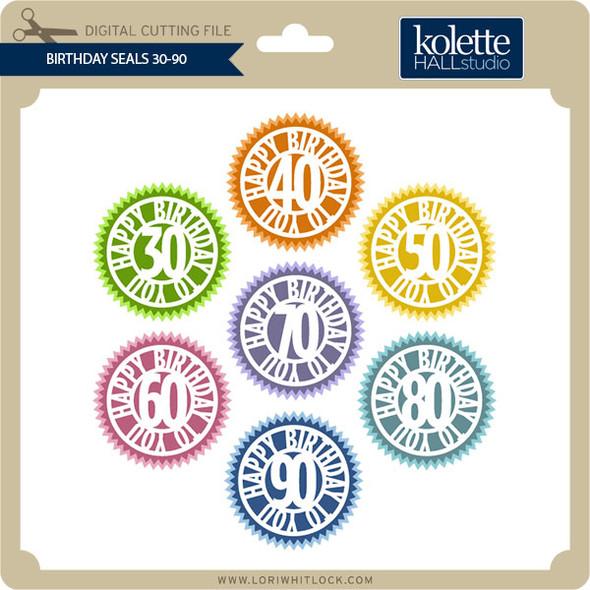 Birthday Seals 30-90