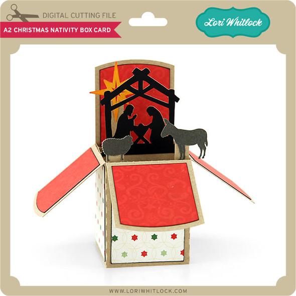 A2 Christmas Nativity Box Card