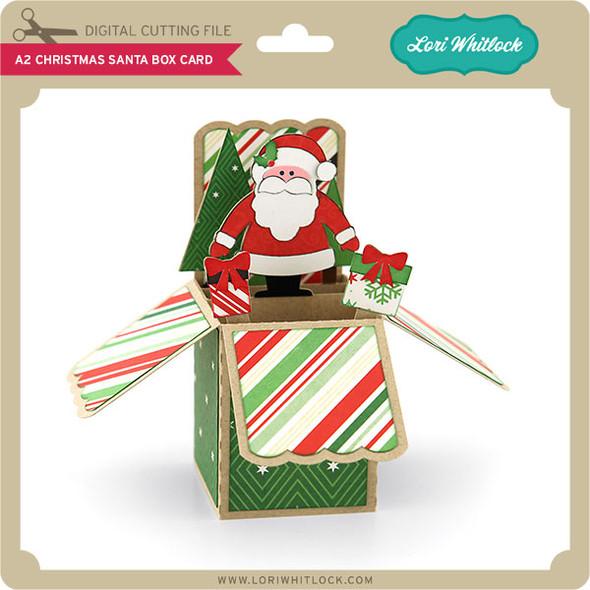 A2 Christmas Santa Box Card