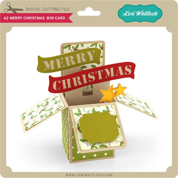 A2 Merry Christmas Box Card