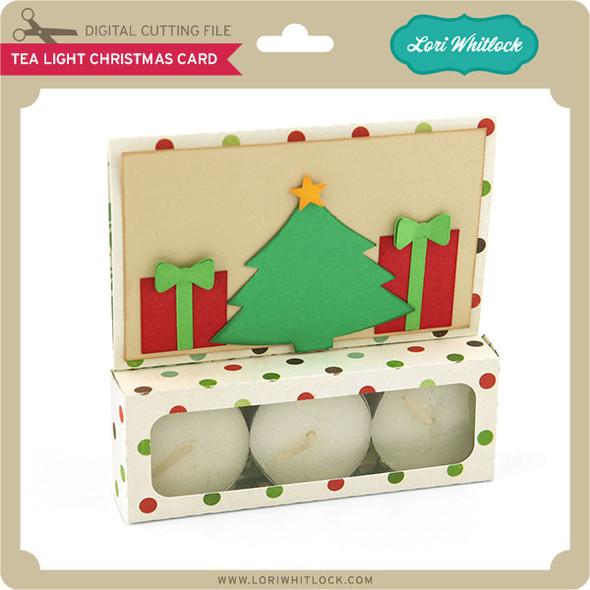 Tea Light Christmas Card