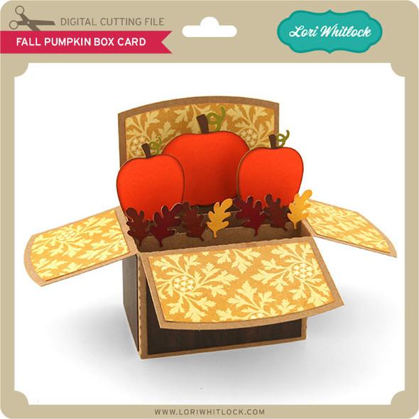 Fall Pumpkin Box Card