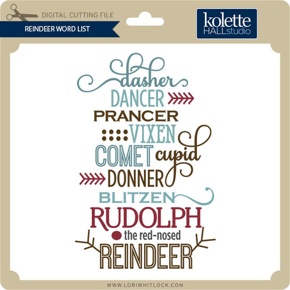 Reindeer Word List