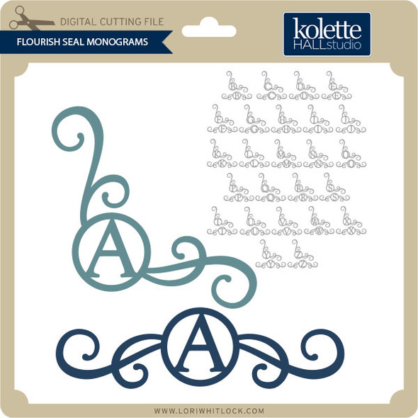 Flourish Seal Monograms