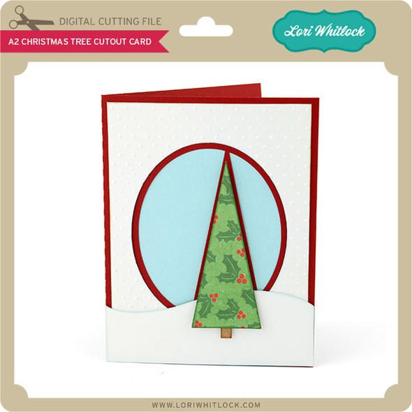 A2 Christmas Tree Cutout Card
