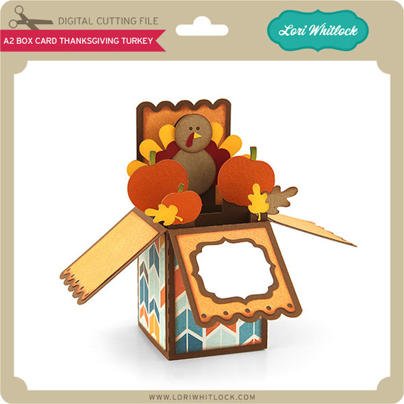 A2 Box Card Thanksgiving Turkey