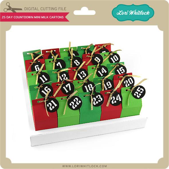 25 Day Countdown Mini Milk Cartons