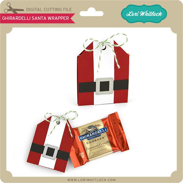 Ghirardelli Santa Wrapper