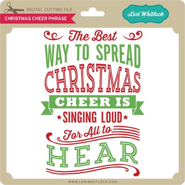 Christmas Cheer Phrase