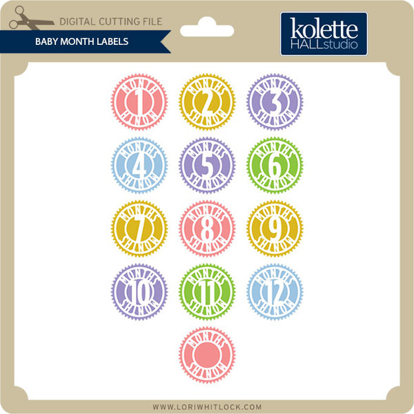 Baby Months Labels