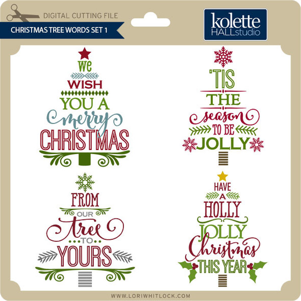 Christmas Tree Words Set 1