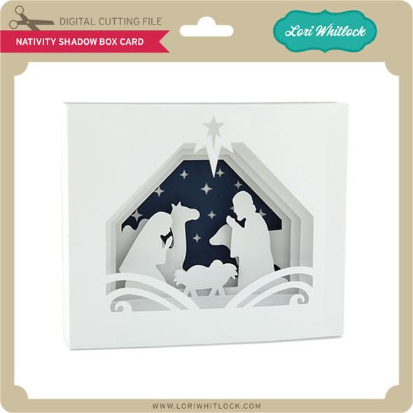 5x7 Nativity Shadow Box Card