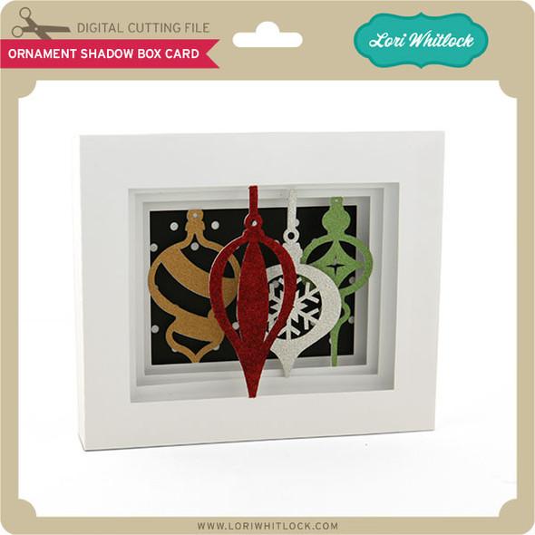 5x7 Ornament Shadow Box Card