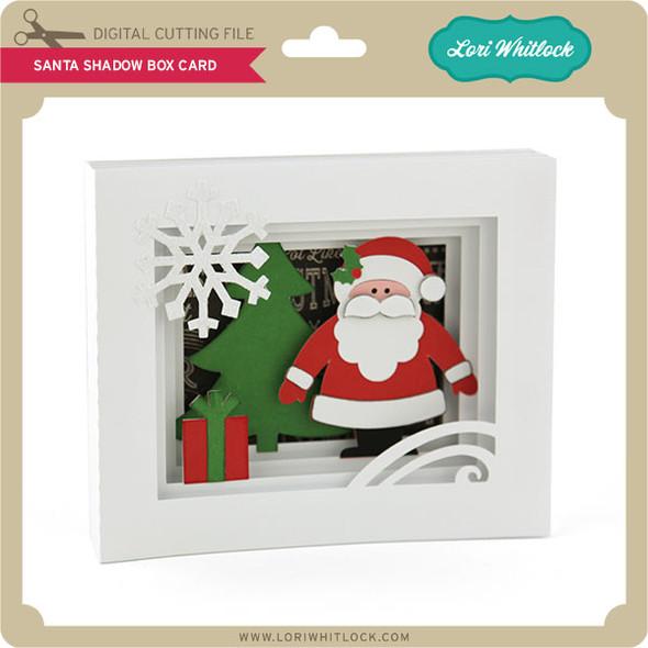 5x7 Santa Shadow Box Card