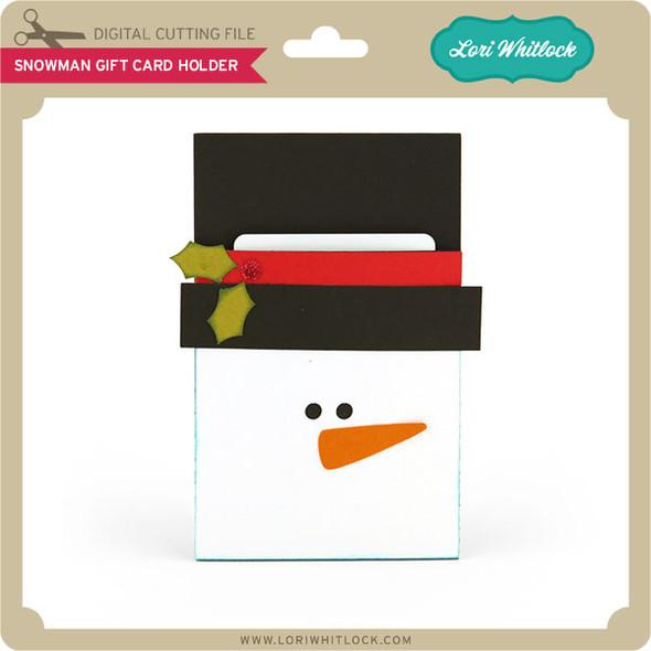 Snowman Pocket Gift Card Holder