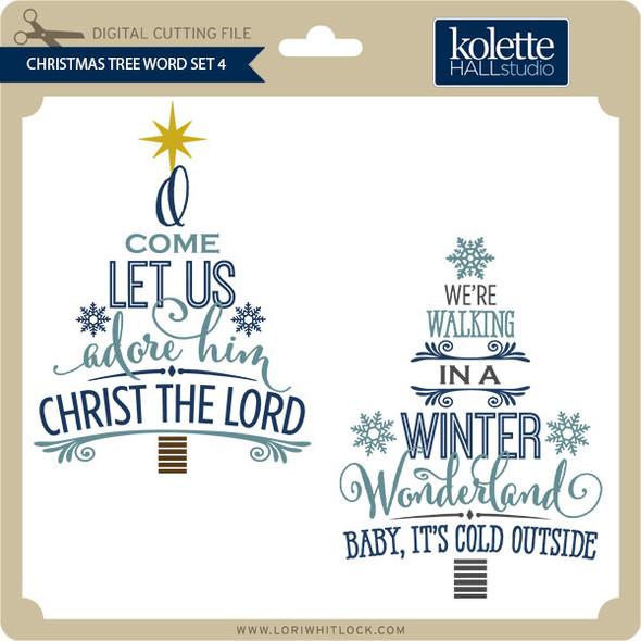 Christmas Tree Words Set 4