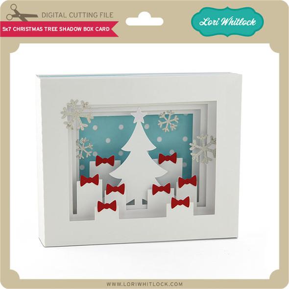5x7 Christmas Tree Shadow Box Card